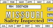 1977-79 Missouri inspection sticker