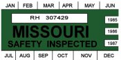 1985-1987 Missouri Inspection