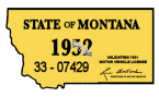 1952 Montana Registration Sticker