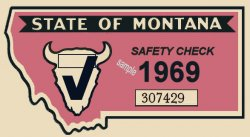 1969 Montana Safety Inspection Sticker