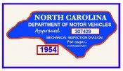 1954 NC Inspection sticker (Estimate)