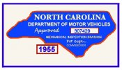 1955 NC Inspection sticker (Estimate)