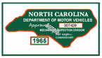 1965 NC Inspection Sticker (Estimate)