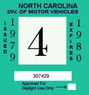 1979-1980 NC inspection sticker