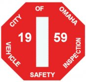 1959 Nebraska Inspection sticker (Omaha)