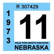 1972-73 Nebraska Inspection Sticker