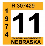 1974 Nebraska Inspection Sticker