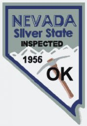 1956 Nevada Inspection sticker