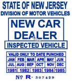 1981-85 New Jersey New Car Dealer sticker