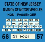 1956-57 New Jersey Commercial Inspection Sticker