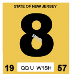 1957 New Jersey INSPECTION Sticker