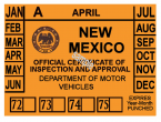1972-1975 New Mexico Inspection Sticker