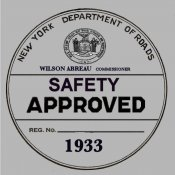 1933 New York Safety Sticker