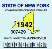 1942 NY Safety Inspection sticker