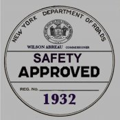 1932 New York Safety Sticker