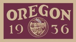 1936 Oregon State Inspection Sticker