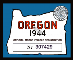1944 to 1983 Oregon Safety Check Inspection Sticker