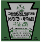 1936 Pennsylvania INSPECTION Sticker