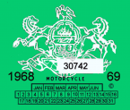 1968 Pennsylvania INSPECTION Sticker