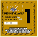 1970-1 Pennsylvania Inspection Sticker