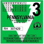 1978-3 Pennsylvania Inspection sticker