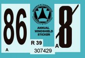 1986 Pennsylvania Inspection sticker