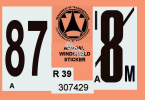 1987 Pennsylvania Inspection Sticker