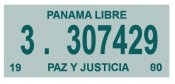 Panama 1980 Inspection Sticker