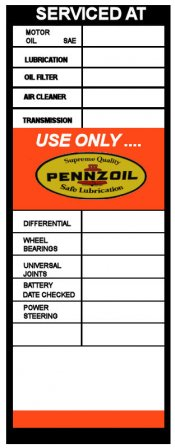 PENZOIL 1950's Service Door Sticker
