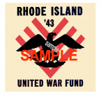 1943 RI War Fund Sticker