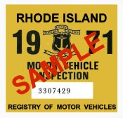 1971 Rhode Island Inspection Sticker