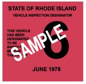1978 Rhode Island Inspection Sticker