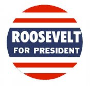1936 Roosevelt for President Window Sticker