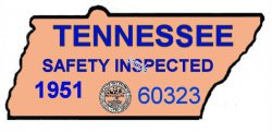 1951 Tennessee safety inspection Sticker