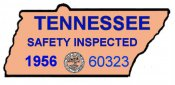 1956 Tennessee safety inspection Sticker