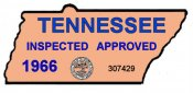 1966 Tennessee Safety Check inspection sticker