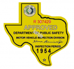 1954 Texas Inspection Sticker