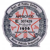 1956 Texas Inspection sticker