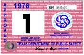 1976 Texas Inspection Sticker