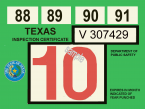 1987-91 Texas inspection sticker
