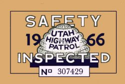 1966 Utah Inspection sticker