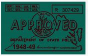 1948-49 Virginia INSPECTION Sticker