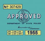 1955 Virginia inspection sticker