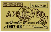 1957-58 Virginia Inspection Sticker