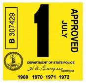 1969-72-Virginia INSPECTION Sticker