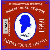 1991 VA Fairfax centennial sticker