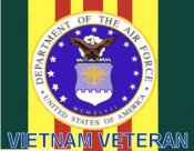 United States Air Force Vietnam Veteran sticker
