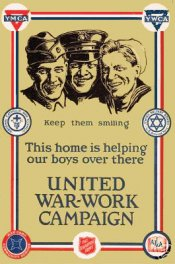 United War Work Campaign Sticker