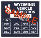 1976-77 Wyoming inspection sticker