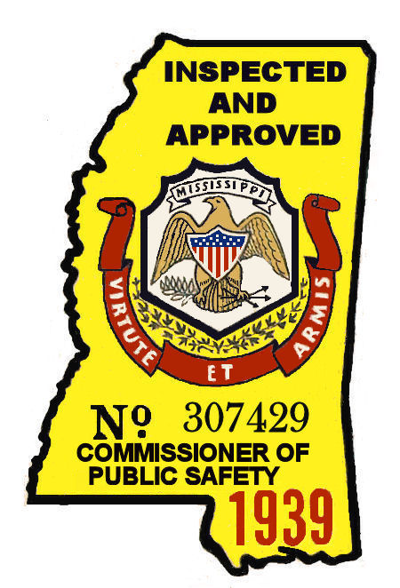 1939 Mississippi Inspection sticker